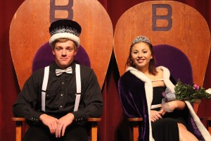 King Wyatt Heil and Queen Abby Bristol