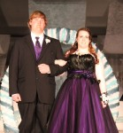 Emily Olson escorted by Kevin Graber