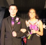 Alexis Kihle escorted by Kellen Lagerquist