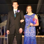 Jocelyn Jahner escorted by Jacob Kvernum