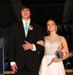 Kacey Mongeon escorted by Ethan Jensen