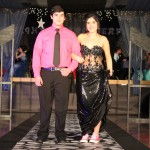 Chantel Bercier escorted by Gary Bercier