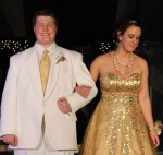 Kelsey Morris escorted by Jeremy Johnson